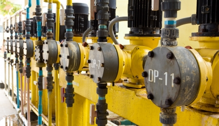 waterleiding: Waterworks motor Stockfoto