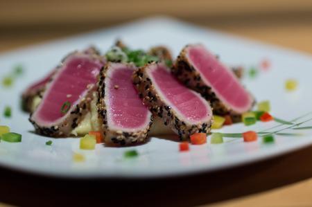 solanaceae: Japanese Sesame Salmon Steak