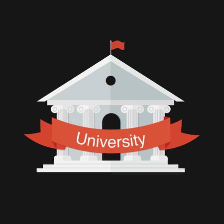 university building: university building icon
