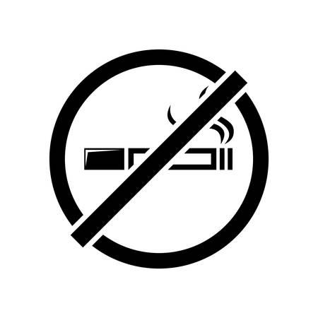 prohibido fumar: ningún icono de fumar Vectores
