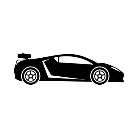 silhouette voiture: Voiture de sport icône.