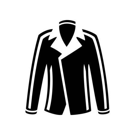 leather coat: jacket  icon