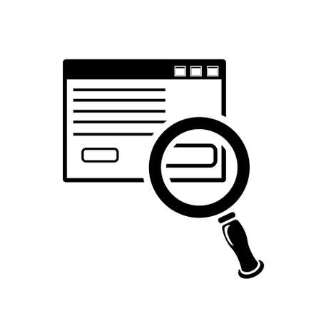 icons site search: search html icon Illustration