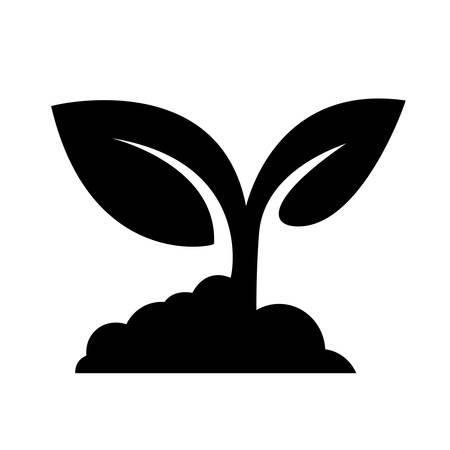 seedling: Seedling icon vector Illustration
