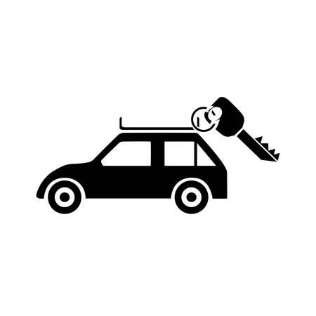 rent: rent car icon Illustration