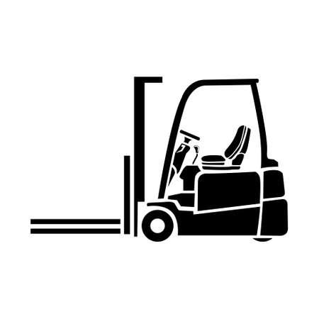 carretillas almacen: icono de montacargas  Vectores