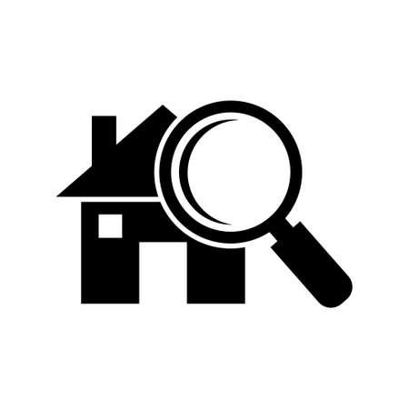housing search: search house icon