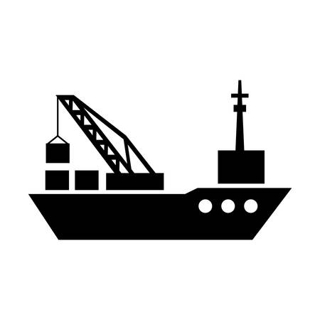 tanker ship: tanker cargo ship with containers