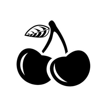 macro leaf: cherry icon