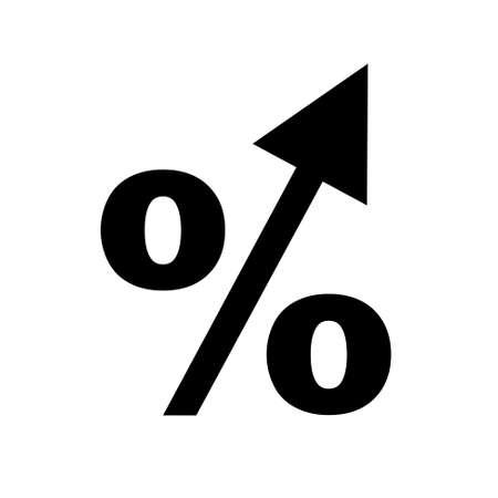 the percentage: percentage arrow   icon Illustration