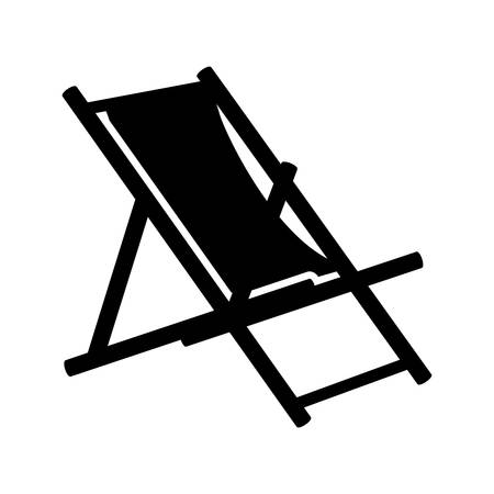 wooden chair: beach chair icon - beach chaise longue
