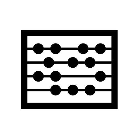 abacus: abacus icon Illustration