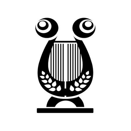 conservatory: musical instrument icon - harp icon Illustration