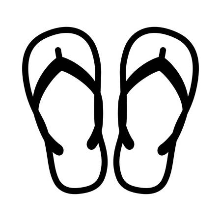 flipflop: Beach slippers - flipflop icon