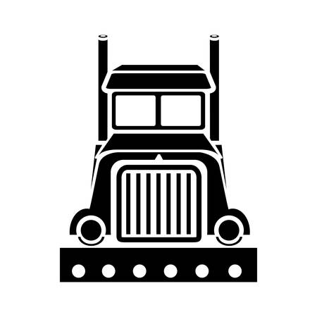 semi trailer: truck icon Illustration