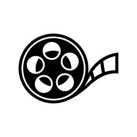 cinta pelicula: icono del rollo de película Vectores