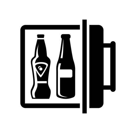 mini bar: mini bar icon Illustration