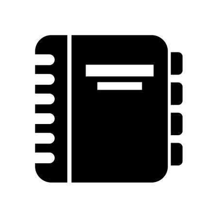 directory book: address book icon Illustration