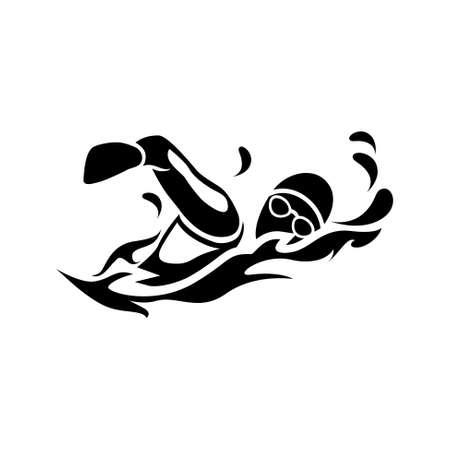 수영 아이콘 일러스트