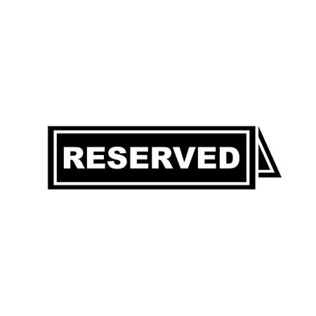 r�serv�: reserved sign  icon Illustration
