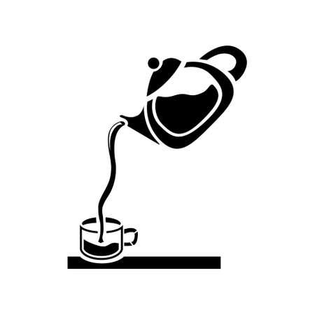 pouring: pouring tea icon Illustration