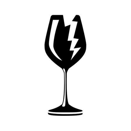 unpacking: Broken symbol, vector icon Illustration
