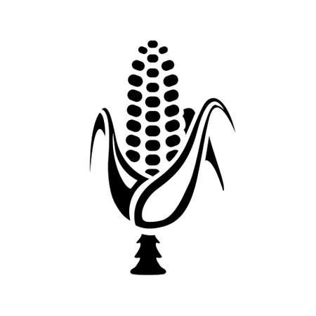sweetcorn: corn icon Illustration