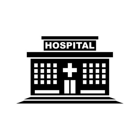 hospital icon: hospital building icon