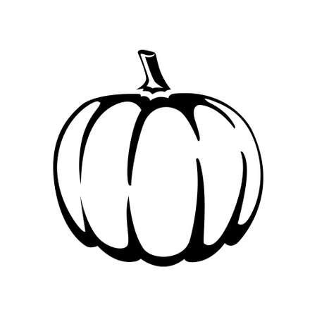 calabaza caricatura: icono de calabaza Vectores