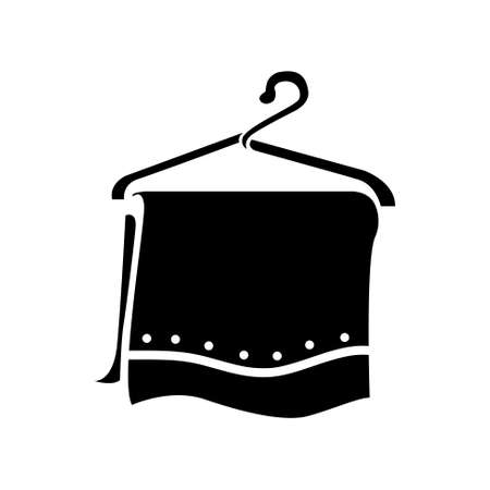 clothing rack: towel hanger icon