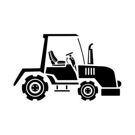 cartoon tractor: tractor icon