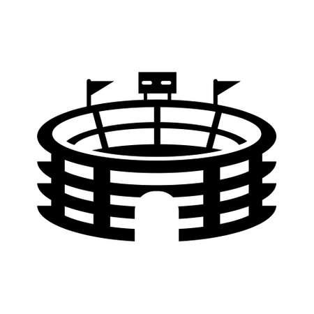 Sport icon - signe Stadium Banque d'images - 45758683