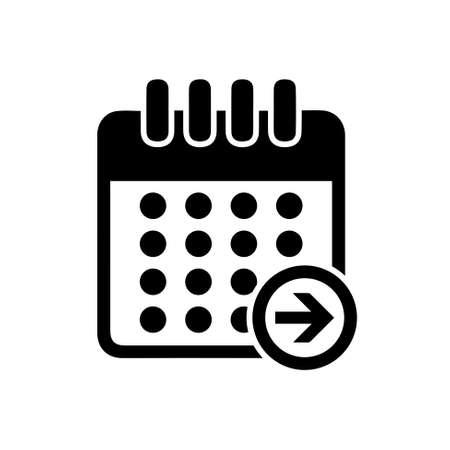calendar icon: calendar next day icon Illustration