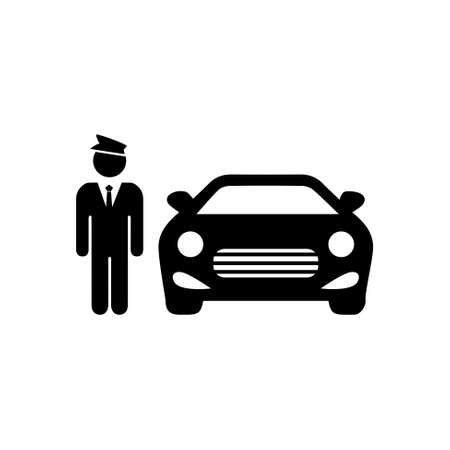 valet: hotel parking icon Illustration