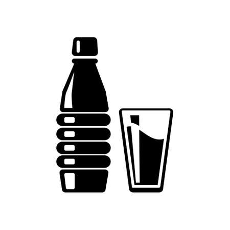 champagne cups: cup bottle icon Illustration