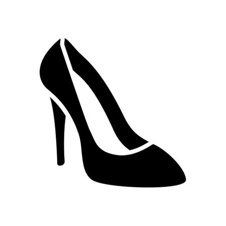 high heels woman: high heel shoes icon