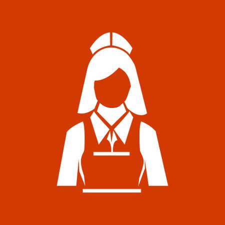 waitress: waitress woman icon Illustration