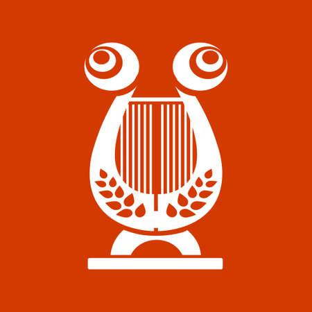 harp: musical instrument icon - harp icon Illustration