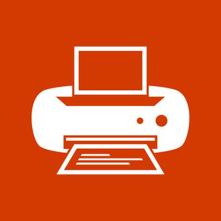 copy machine: Vector Printer Icon Illustration