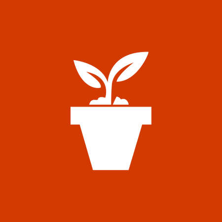 plant pot: plant pot icon Illustration
