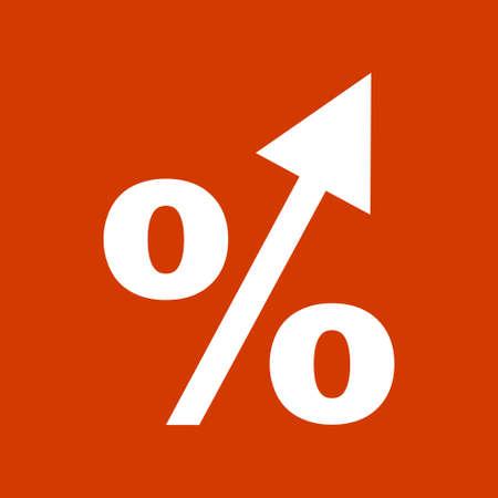 percentage: percentage arrow   icon Illustration