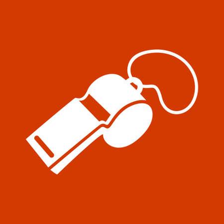 whistle icon. Illustration