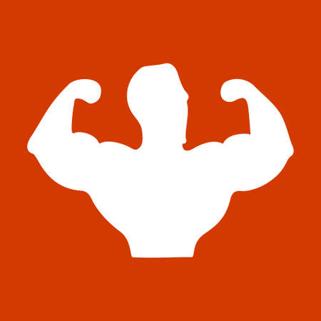 creative strength: Sportsman silhouette character. Sport Fitness club creative concept. Power strength man icon.