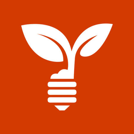 plant growing: green eco energy concept, plant growing inside the light bulb
