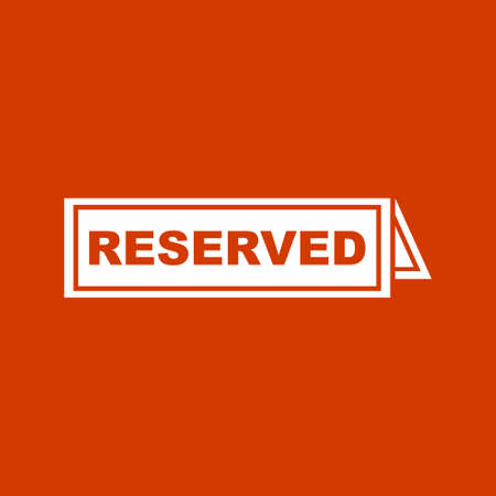 reserved sign: reserved sign  icon Illustration