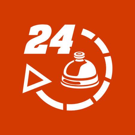24 hour: 24 hour service hotel