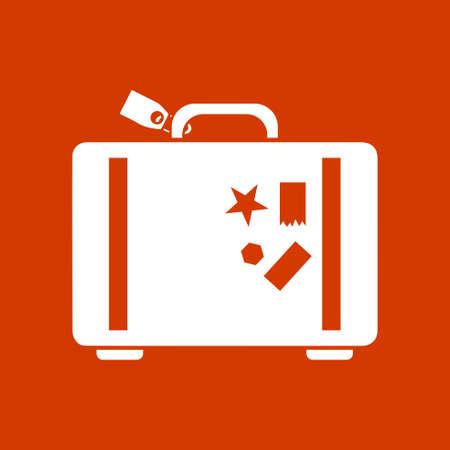 trolley case: luggage icon Illustration