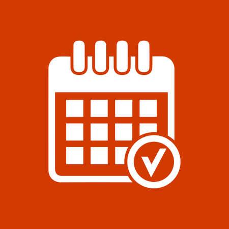 icono de marca de verificación calendario