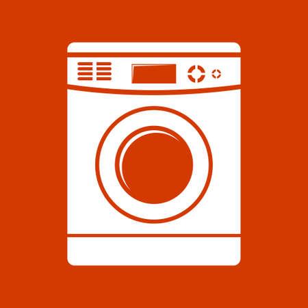 lavadora con ropa: icono de lavadora