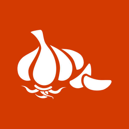 garlic clove: garlic  icon Illustration